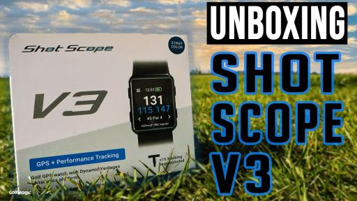 Shot Scope V3 GPS Golf Watch UNBOXING: How to use one of the best watches around