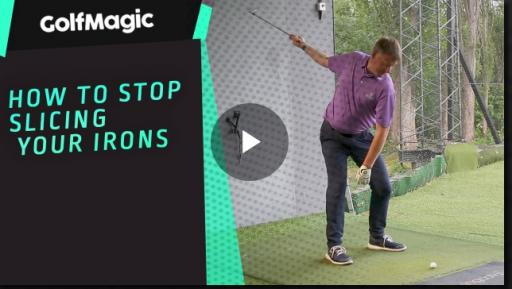 WATCH: How to STOP SLICING your irons...
