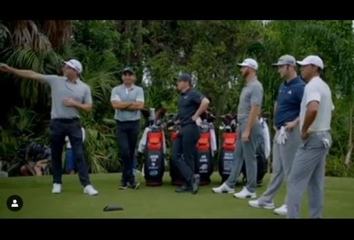 WATCH: Woods, McIlroy, DJ, Day and Rahm in Straight Drive Contest...