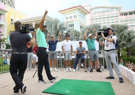 Tiger Woods wins Hero Shot with scintillating walk-off bullseye shot