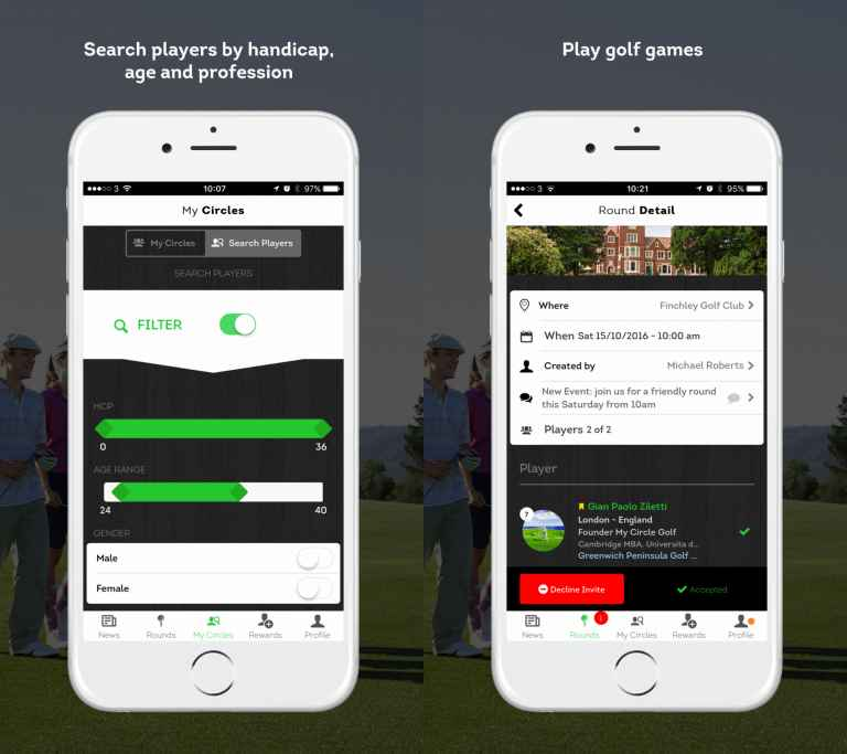 42f468f8ea A new app for players in London and the south-east hopes to make it easier  for golfers to find playing partners.