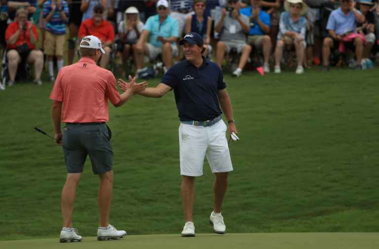 2bdc7a223b0 About half the field have been spotted wearing shorts in practice at Quail  Hollow including world number one Dustin Johnson, Grand Slam hopeful Jordan  ...