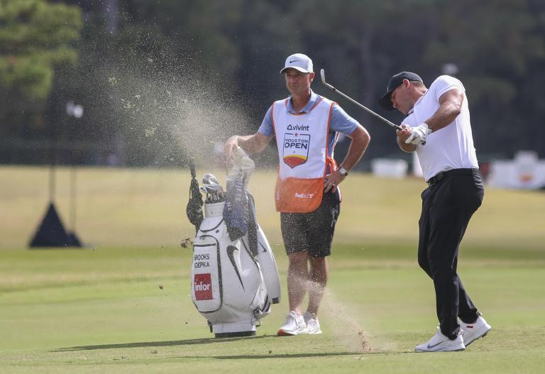 Brooks Koepka SPLITS with golf coach Claude Harmon III