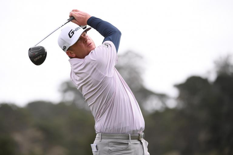 Nate Lashley GRILLED by golf fans for angry PUTTER SLAM at Pebble Beach
