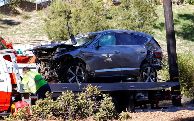 Tiger Woods car crash: Golf legend was travelling nearly DOUBLE the speed limit