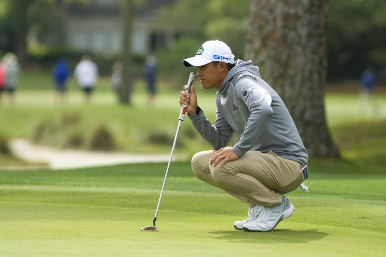 Golf fans react as Collin Morikawa brings back the HOODIE for the RBC Heritage