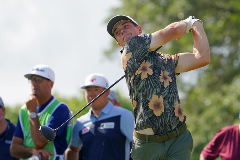 Golf fans react as Viktor Hovland wears FLOWERY shirts at Valspar Championship