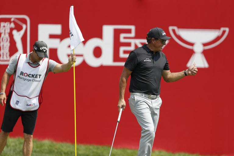 Golf fans react to FUNNY Phil Mickelson JOKE on Bryson DeChambeau at The Match