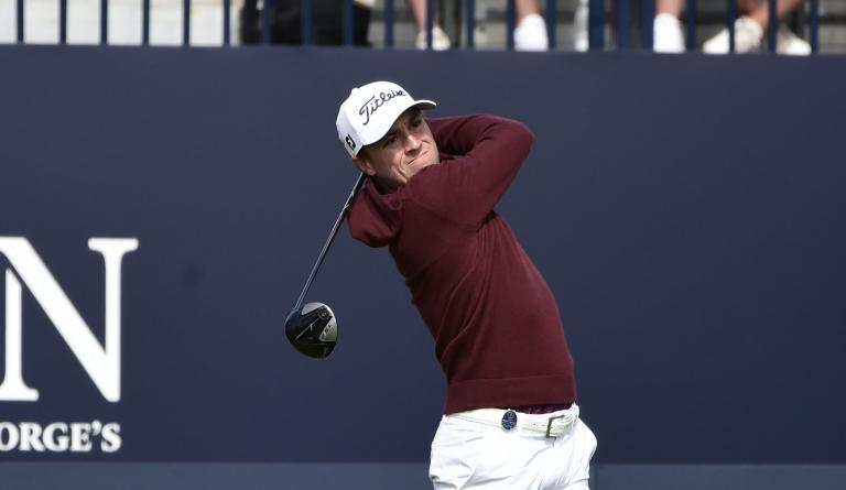 Golf fans react as Justin Thomas FEEDS A DUCK at The Open Championship