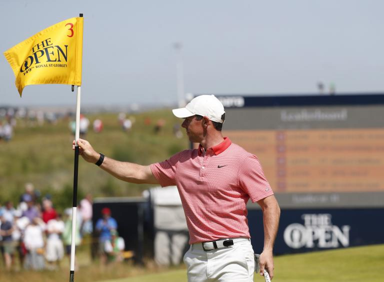 Rory McIlroy HITS A BALL BOY and the ball goes IN THE HOLE at The Open!