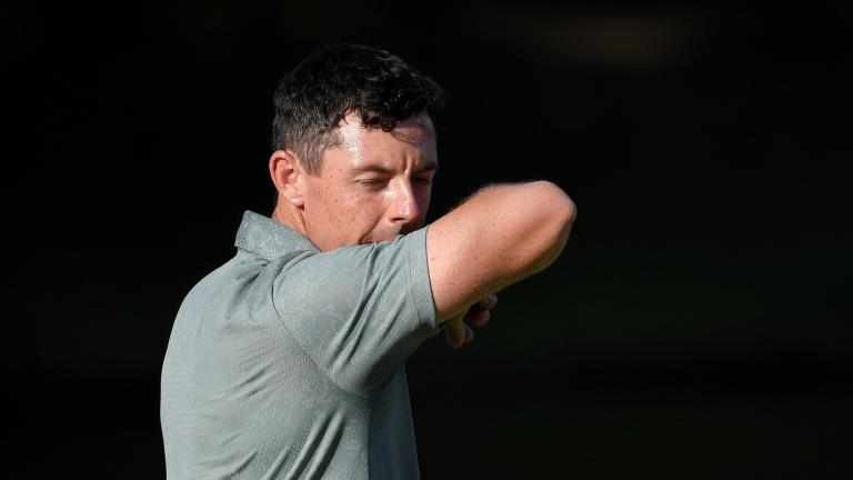 Rory McIlroy loses his cool and THROWS his 3-wood into the TREES!