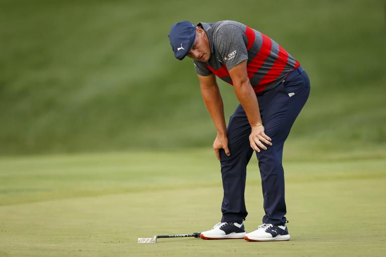 Bryson DeChambeau in HEATED EXCHANGE with golf fan after BMW playoff loss