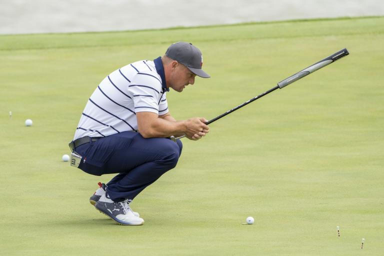 Bryson DeChambeau on how geometry of GOLF BALL DIMPLES transformed his putting!