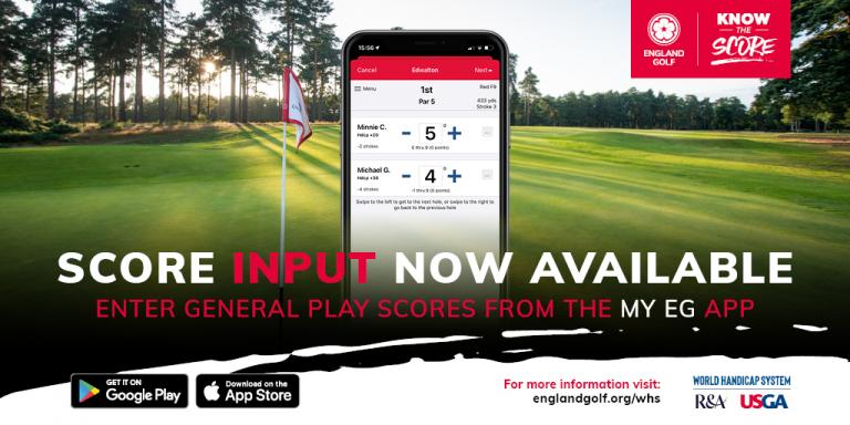 England Golf makes scoring easier with updates to 'My EG' app