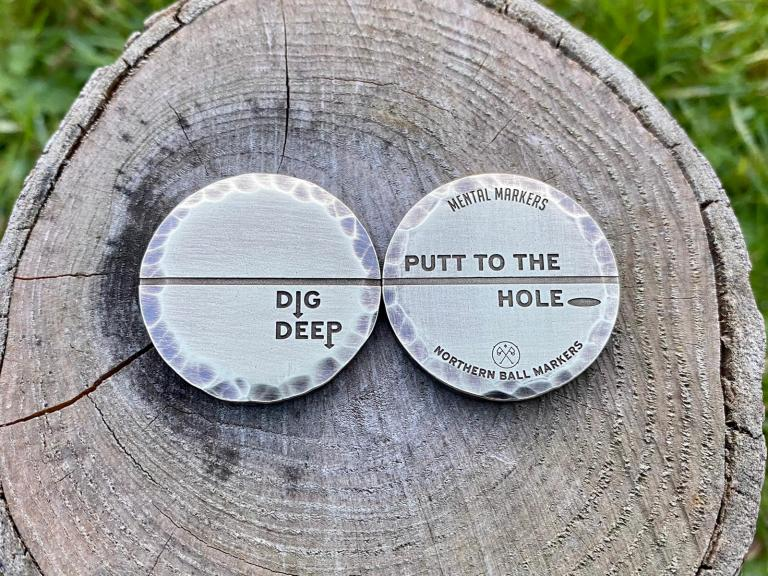 Mental Markers: the ball markers that spread positive energy on the greens