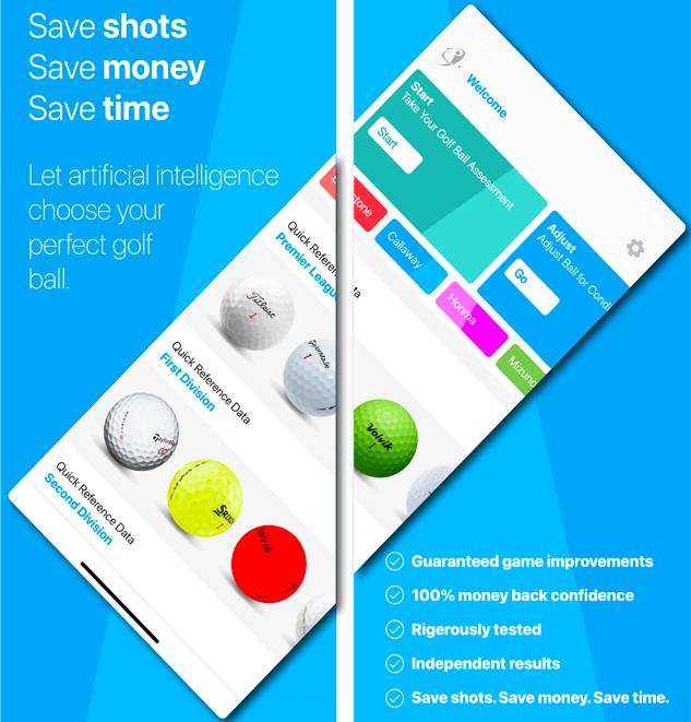 iGolfball becomes WORLD'S FIRST artificial intelligence golf ball selector