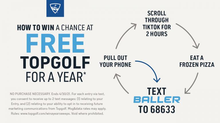 Topgolf launch sweepstakes for the chance to win free Topgolf for a year