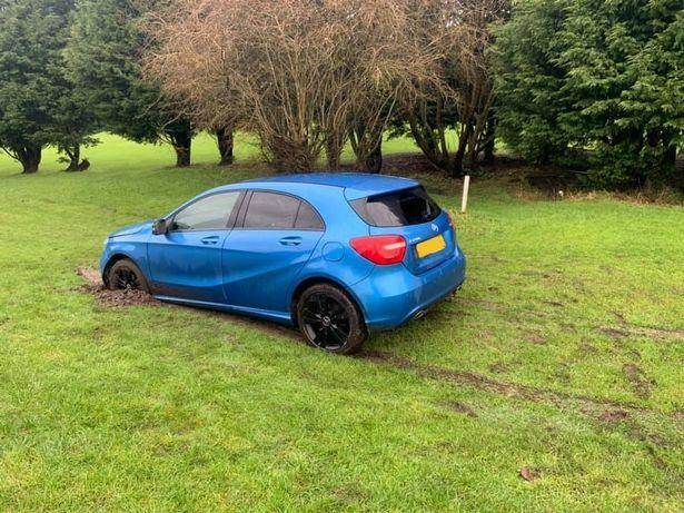 Golf club FURIOUS after abandoned car causes £10,000 of damage