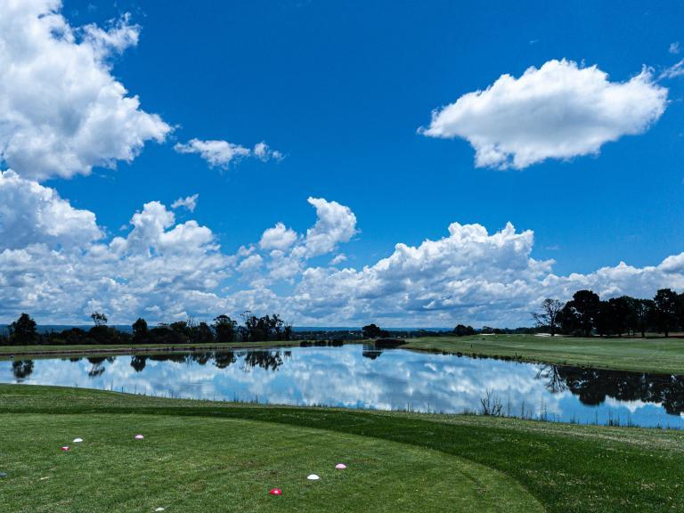 Golf fans react as unfortunate golfer FALLS into a lake