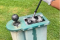 Golf fans react as group of golfers clubs in a BALL CLEANER