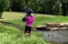 Golfer throws all of his golf clubs in the lake following nightmare round